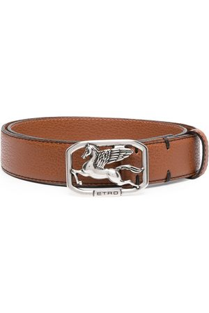 Etro Men Belts - Pegasus buckle belt