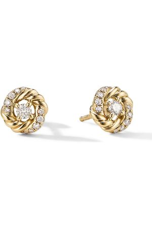 David Yurman 8mm petite Infinity diamond stud earrings