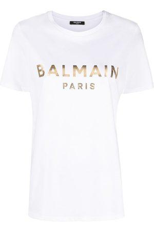 Balmain Women Short Sleeve - Logo print T-shirt