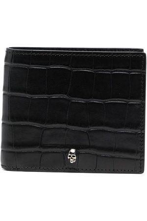 Alexander McQueen Men Wallets - Embossed skull charm wallet