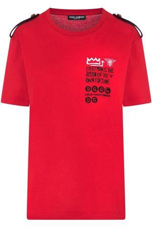 Dolce & Gabbana Epaulette jersey T-shirt