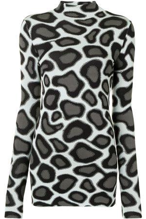 Proenza Schouler Women Long Sleeve - Abstract spotted long-sleeve T-shirt