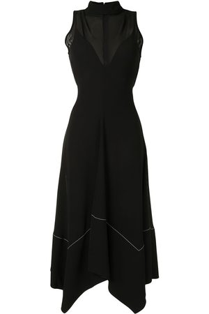Proenza Schouler Crepe georgette seamed dress