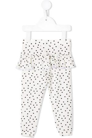 Wauw Capow by Bangbang Baby Leggings - Polka-dot ruffle leggings
