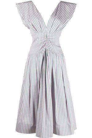 Serafini Check-print midi dress