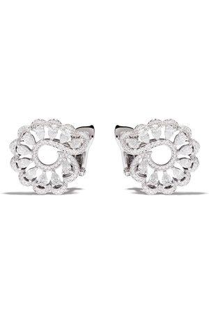 Chopard 18kt white gold diamond swirl earrings