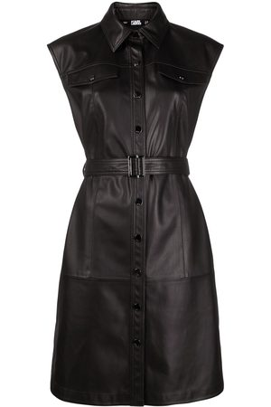 Karl Lagerfeld Sleeveless belted mini dress
