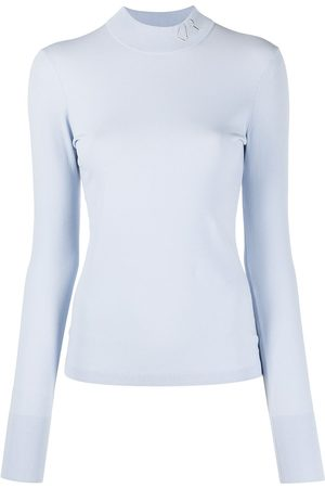 Karl Lagerfeld Women Jumpers - Logo mock neck jumper