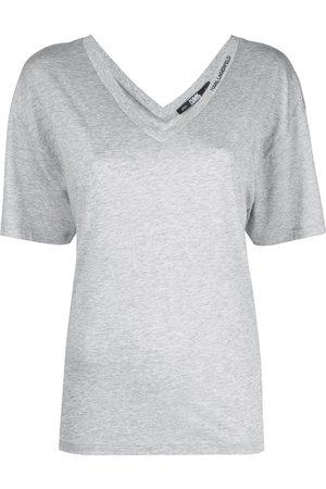 Karl Lagerfeld Double V-neck T-shirt