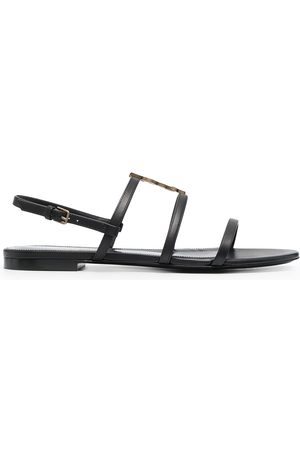 Saint Laurent Cassandra monogram flat sandals