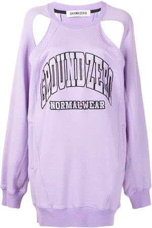 Ground Zero Logo-embroidered cut-out sweatshirt