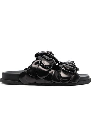 VALENTINO GARAVANI Women Sandals - Rose-detail slides