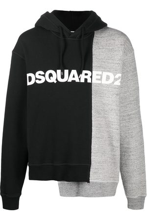 Dsquared2 Two-tone asymmetric hoodie