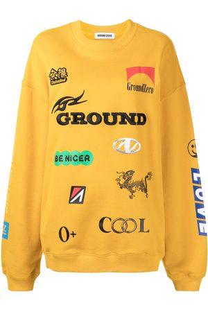 Ground Zero Multi-logo crew neck sweatshirt