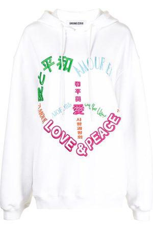 Ground Zero Multi-motif embroidered hooded sweatshirt