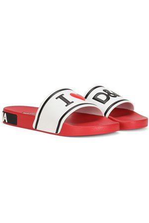 Dolce & Gabbana Women Sandals - Raised logo slides