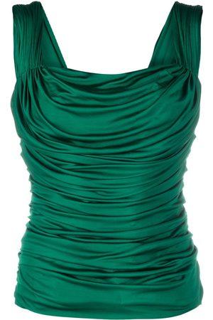 Dolce & Gabbana Women Tank Tops - Draped sleeveless top