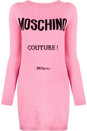 Moschino Logo Couture knitted dress