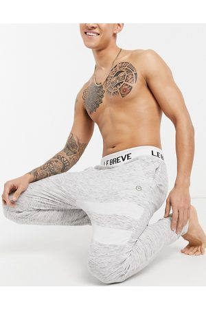 Le Breve Men Joggers - Mix and match lounge joggers in grey stripe