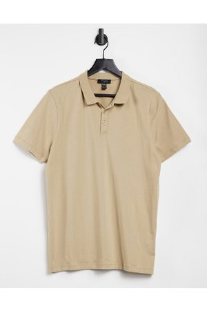 New Look Jersey polo in stone