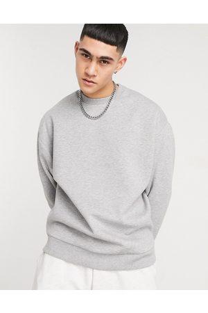 ASOS Men Sweatshirts - Oversized sweatshirt in marl