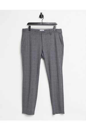 Only & Sons Men Skinny Pants - Trousers in slim fit grey check