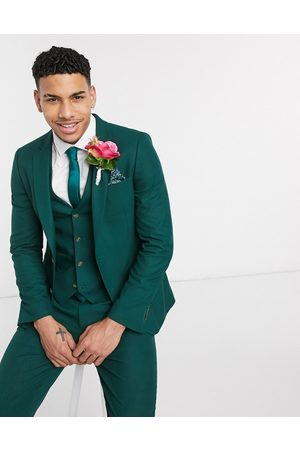 ASOS Wedding skinny suit jacket in forest