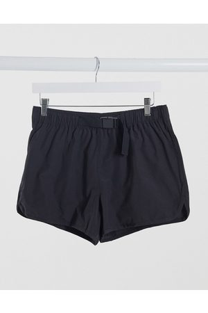 ASOS Runner swim shorts with belt fastening in
