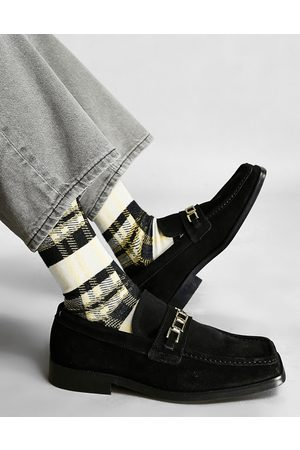 ASOS Men Loafers - Loafers in suede with square toe and link chain