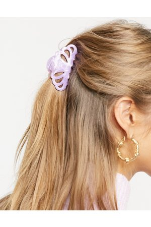 ASOS Hair claw in lilac resin