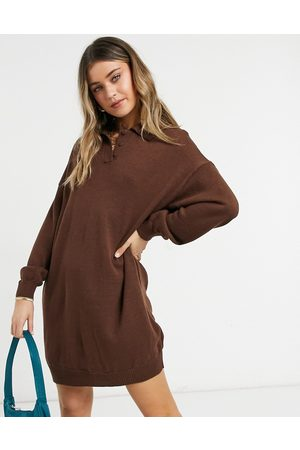 ASOS Mini dress with polo neck in