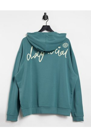 ASOS ASOS Daysocial oversized hoodie with back logo print in wash