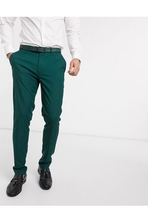 ASOS Wedding skinny suit trousers in forest
