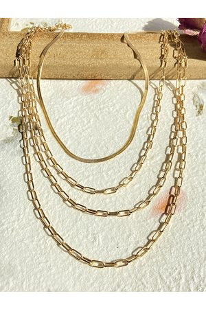 YOINS Alloy Multi-layer Mix Chain Necklace