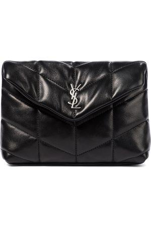Saint Laurent Loulou Puffer leather clutch