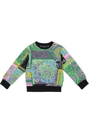 VERSACE Barocco printed cotton sweatshirt