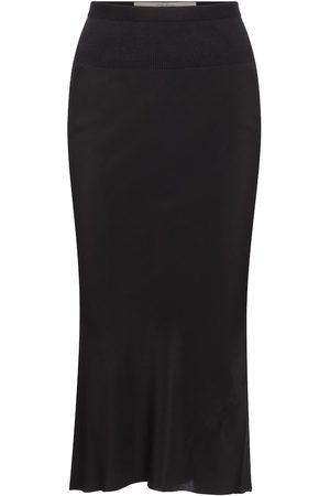 Rick Owens Silk-blend midi skirt