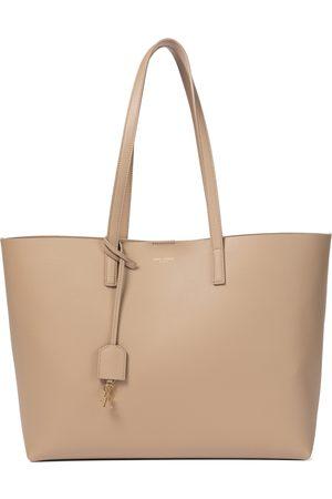 Saint Laurent Shopping E/W leather tote