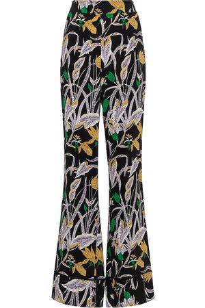 Diane von Furstenberg Federia high-rise floral pants