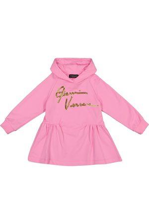 VERSACE GV Signature cotton hoodie dress