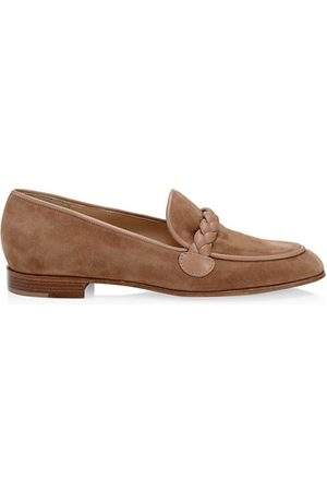 Gianvito Rossi Loafers - Braided Suede Loafers