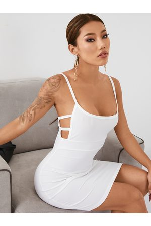 YOINS Spaghetti Strap Hollow Design Knit Sleeveless Dress