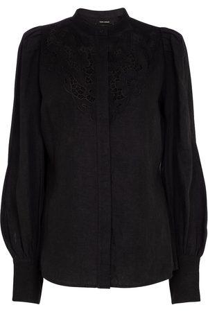 Isabel Marant Etima lace-trimmed linen-blend blouse