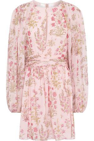 Giambattista Valli Floral silk georgette minidress