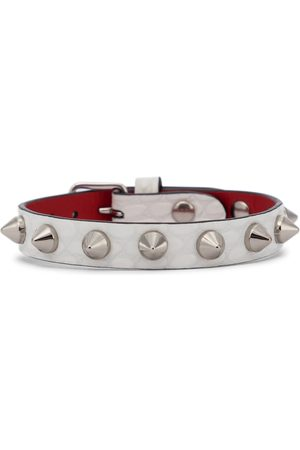 Christian Louboutin Loubilink studded leather bracelet