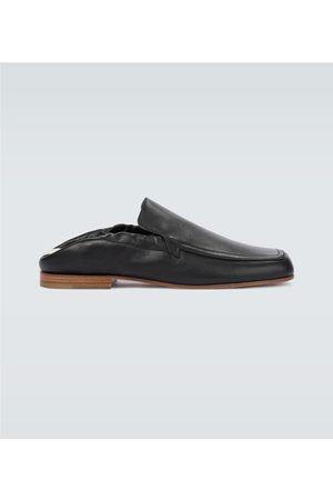 Loewe Pull tab leather loafers