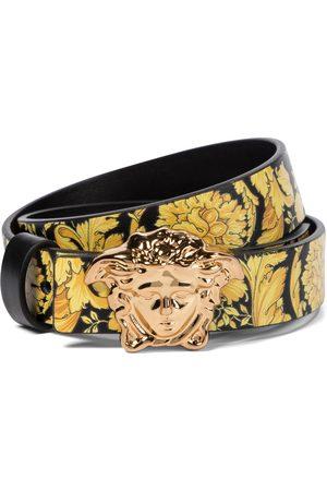 VERSACE Boys Belts - Medusa Barocco reversible leather belt