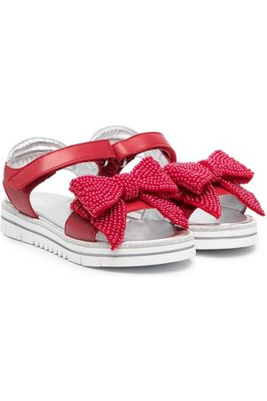 MONNALISA Bow-detailed touch-strap sandals