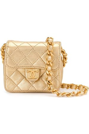 CHANEL 1990s diamond-quilted mini bag