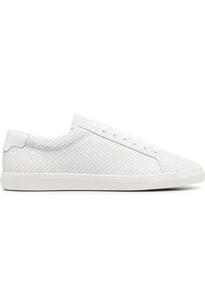 Saint Laurent Snake-effect low-top sneakers